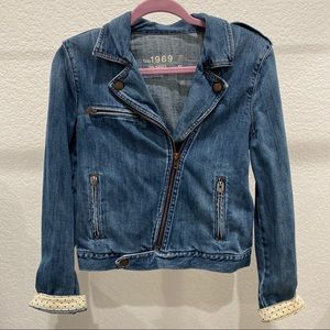Gap Moto Denim Jacket